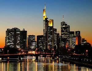 Vokietijos miestai Frankfurtas ir Mainas
