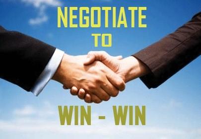 Visada prisimink – derybose turi laimėti abi pusės