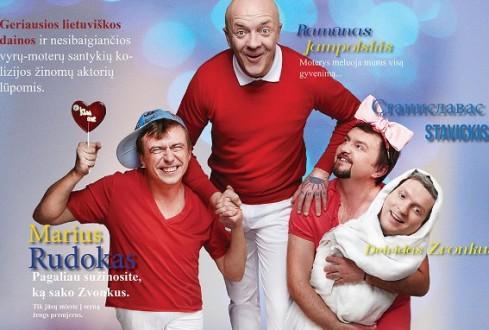 """Anglijos lietuviams – Lietuvos žvaigždžių humoristinis spektaklis """"Vyrai meluoja geriau"""""""