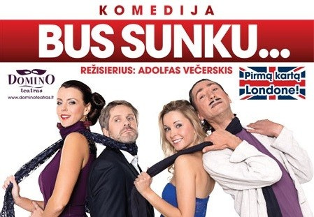 """Lietuviškas spektaklis """"Bus sunku..."""" - jau šį sekmadienį Londone"""