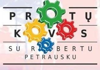 """Kviečiame į """"Protų kovas"""" su Robertu Petrausku"""