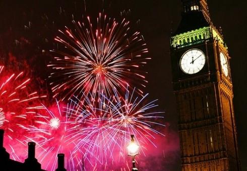 Naujieji metai Londone: fejerverkai, vakarėliai, paradas
