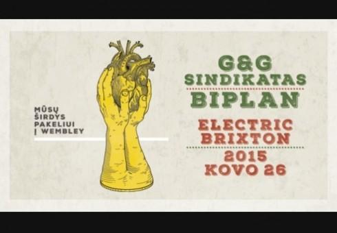 """""""Biplan"""" ir """"G&G Sindikato"""" albumų pristatymas Londone: akcija bilietams!"""