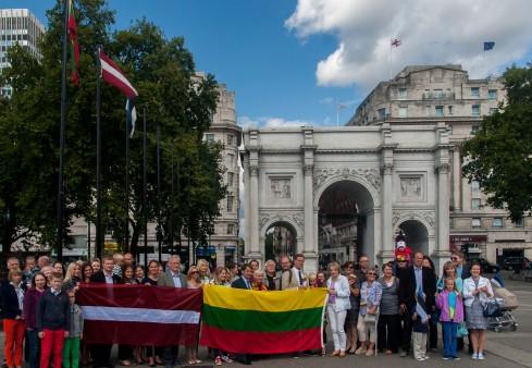 Londone bus švenčiamos 26-osios Baltijos kelio metinės