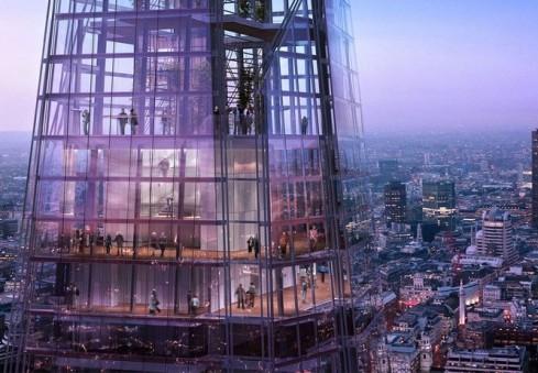 "Stiklinis gigantas ""The Shard"" Londoną apnuogins tarsi ant delno"