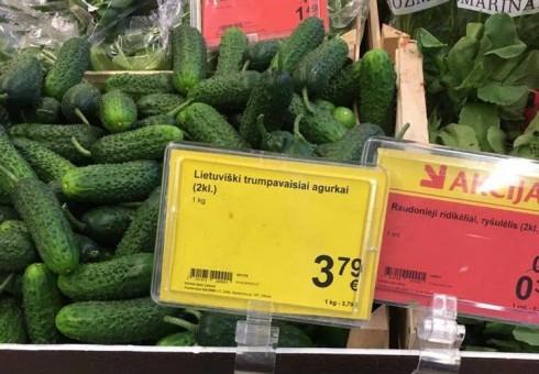 Tautiečių nepasitenkinimas maisto prekių kainomis Lietuvoje tęsiasi