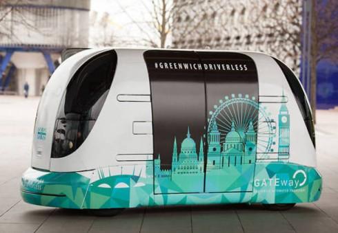 Pirmieji išmėginkite bepiločius Londono automobilius