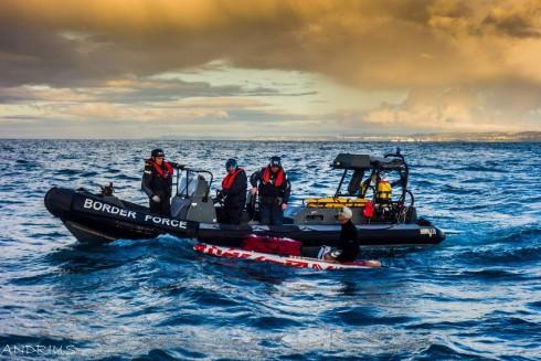 Neįprastas imigracijos į Angliją būdas: valtele per Lamanšą