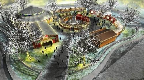 Leicesterio aikštėje tuoj bus galima užuosti Kalėdas