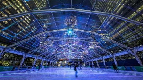 Canary Wharf ledo arena – turbūt puikiausias būdas mėgautis prasidėjusiais 2017 metais
