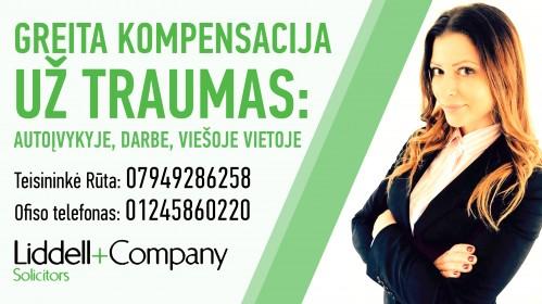 Maksimali kompensacija už patirtas traumas: kokybiškos ir greitos paslaugos lietuvių kalba