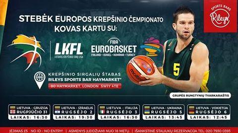 Eurobasket 2017 Krepšinio Čempionato transliacijos Londone