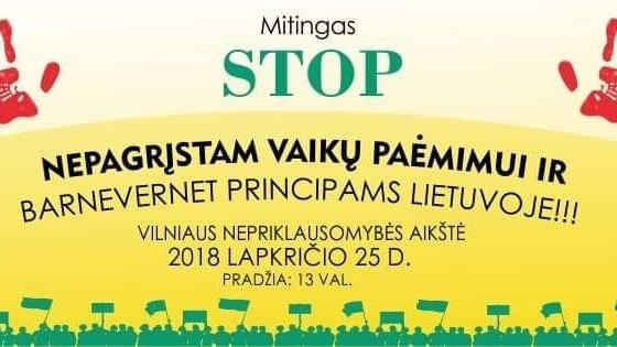 JK lietuviai kviečiami prisijungti prie mitingo Vilniuje nuotoliniu būdu