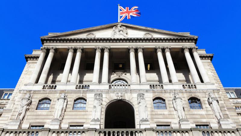 Centrinis bankas JK ekonomikai prognozuoja blogiausius metus nuo krizės laikų