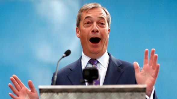 """N. Farage'o """"Brexit"""" partija sulaukia daugiau paramos nei konservatoriai ir leiboristai kartu"""