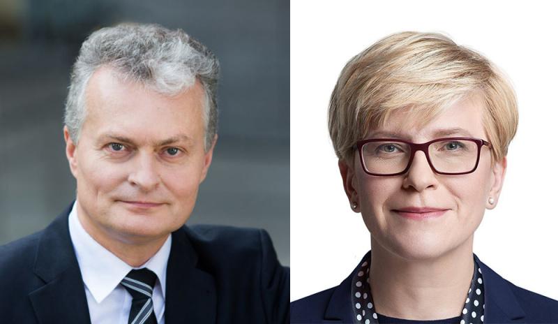 Antrajame Lietuvos prezidento rinkimų ture varžysis G. Nausėda ir I. Šimonytė