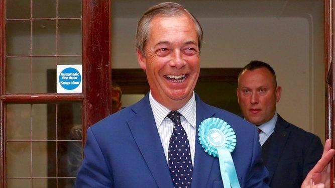 "Europos Parlamento rinkimus JK laimėjo N. Farage'o ""Bexit"" partija"