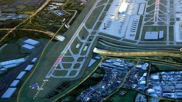 Heathrow oro uosto plėtra: bus keičiamos kelių trasos, upių vagos