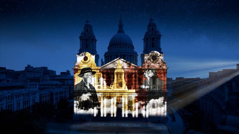 Savaitgalį Londone - įspūdingos projekcijos ant katedros sienų