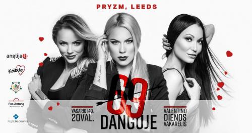 """Valentino dienos vakarėlis Leeds - su """"69 Danguje""""!"""