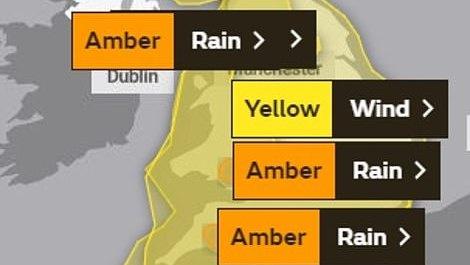JK meteorologijos biuras padidino artėjančios audros Dennis grėsmės lygį