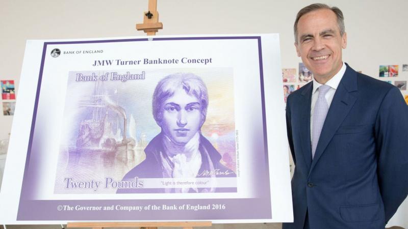 JK į apyvartą išleidžiamas naujas £20 banknotas