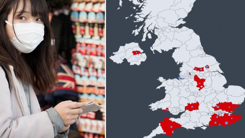 Paskelbtas žemėlapis, kur JK daugiausia užfiksuota koronaviruso atvejų