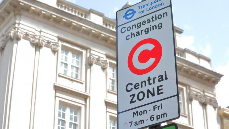 """Congestion charge"" mokestis Londone didės 30 proc."