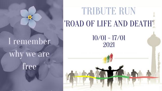 """Dalyvauk virtualiame pagarbos bėgime """"Gyvybės ir mirties keliu""""!"""