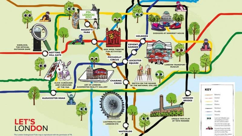 Naujasis metro žemėlapis skatina šeimas vasarą praleisti Londono centre