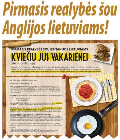 Pirmasis realybės šou Anglijos lietuviams
