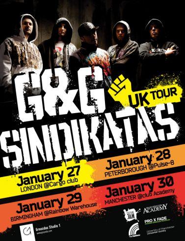 """""""G&G Sindikato"""" koncertinis turas Didžiojoje Britanijoje"""