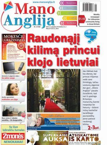 Raudonąjį kilimą princui klojo lietuviai