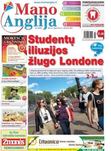 Studentų iliuzijos žlugo Londone