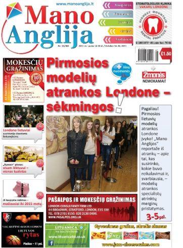 Pirmosios lietuvių modelių atrankos Londone - sėkmingos!