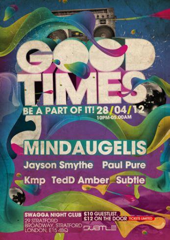 Good Times vakarėlis su DJ Mindaugėliu