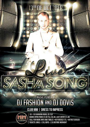 Spalio 13 d. - Sasha Song koncertas!