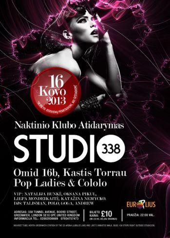 "Naktinio klubo ""Studio 338"" atidarymas!"